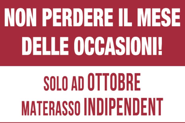Materasso Indipendent Permaflex Super Promo Palermo