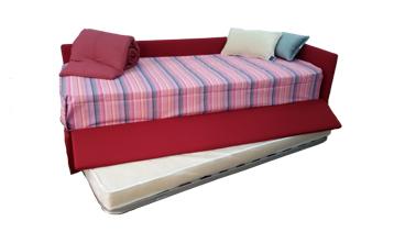 Letto con secondo letto estraibile nocte materassi - Letto con secondo letto estraibile ...